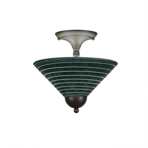 2 Light Rust Semi-Flushmount Ceiling Light-120-BRZ-442 by Toltec Lighting