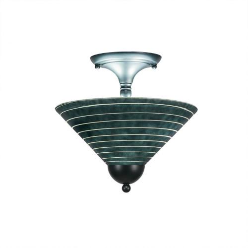 2 Light Rust Semi-Flushmount Ceiling Light-120-MB-442 by Toltec Lighting