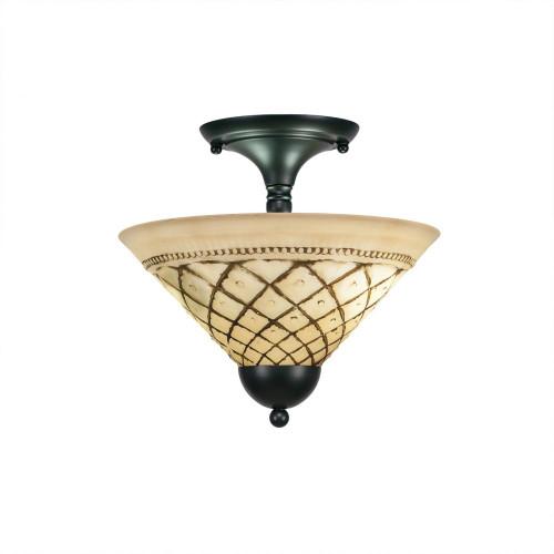 2 Light Brown Semi-Flushmount Ceiling Light-120-MB-7182 by Toltec Lighting