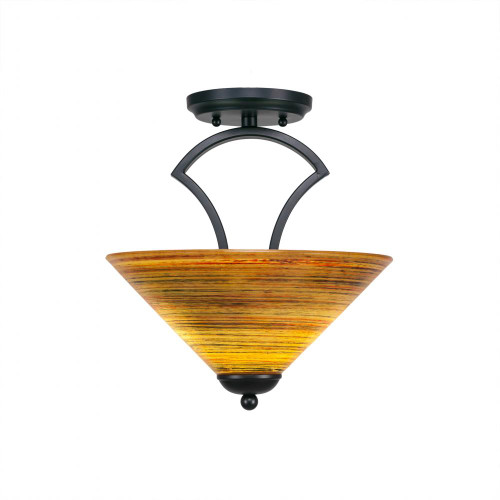 Zilo 2 Light Rust Semi-Flushmount Ceiling Light-563-MB-444 by Toltec Lighting