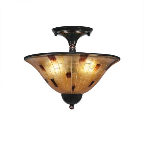 2 Light Tan Semi-Flushmount Ceiling Light-120-BC-707 by Toltec Lighting