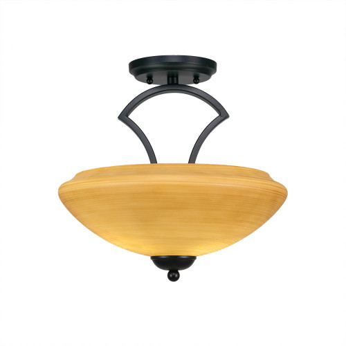 Zilo 2 Light Tan Semi-Flushmount Ceiling Light-563-MB-683 by Toltec Lighting