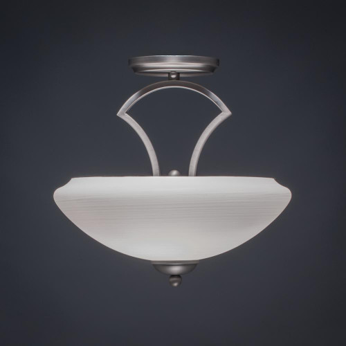 Zilo 2 Light White Semi-Flushmount Ceiling Light-563-GP-684 by Toltec Lighting
