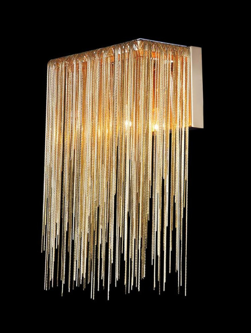Wall Lights By Avenue Lighting FOUNTAIN AVE. COLLECTION GOLD JEWLERY CHAIN WALL SCONCE HF1200-G