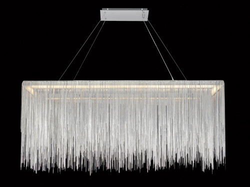 Chandeliers/Linear Suspension By Avenue Lighting FOUNTAIN AVE. CHROME JEWELRY RECTANGLE HANGING FIXTURE Traditional Hanging  CHANDELIER HF1201-CH
