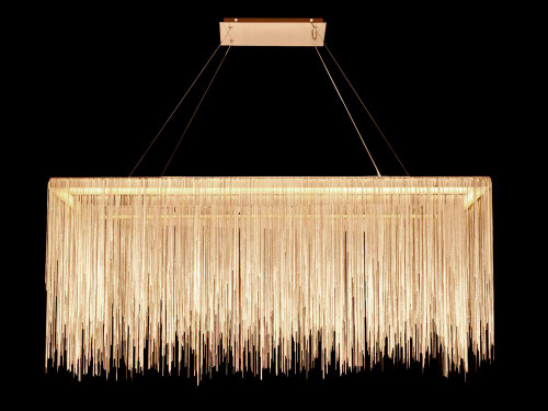 Chandeliers/Linear Suspension By Avenue Lighting FOUNTAIN AVE. COLLECTION GOLD JEWELRY RECTANGLE HANGING FIXTURE HF1201-G