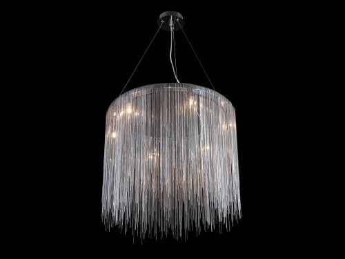 Chandeliers By Avenue Lighting FOUNTAIN AVE. COLLECTION CHROME JEWELRY ROUND HANGING FIXTURE HF1202-CH