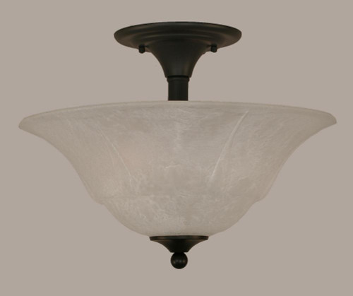 2 Light White Semi-Flushmount Ceiling Light-121-MB-53615 by Toltec Lighting