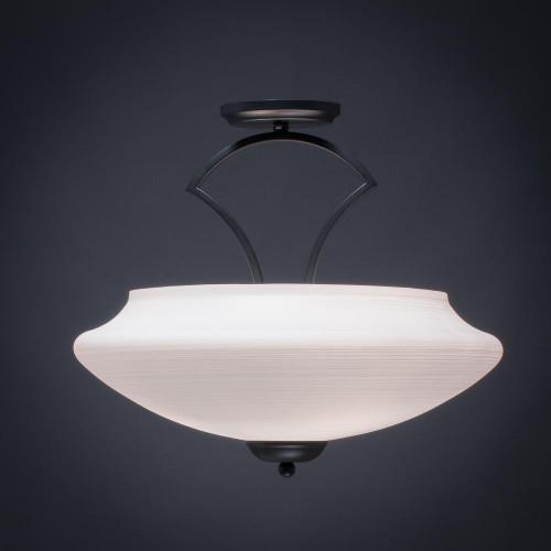 Zilo 3 Light White Semi-Flushmount Ceiling Light-565-MB-687 by Toltec Lighting