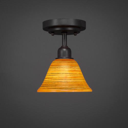 Vintage 1 Light Rust Semi-Flushmount Ceiling Light-280-DG-454 by Toltec Lighting