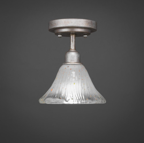 Vintage 1 Light White Semi-Flushmount Ceiling Light-280-AS-751 by Toltec Lighting