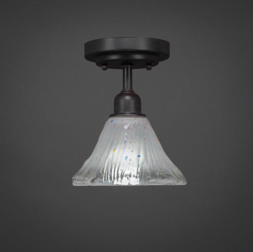 Vintage 1 Light White Semi-Flushmount Ceiling Light-280-DG-751 by Toltec Lighting