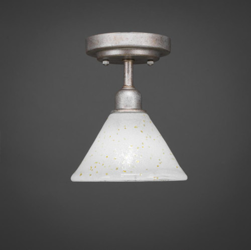 Vintage 1 Light Gold Semi-Flushmount Ceiling Light-280-AS-7145 by Toltec Lighting