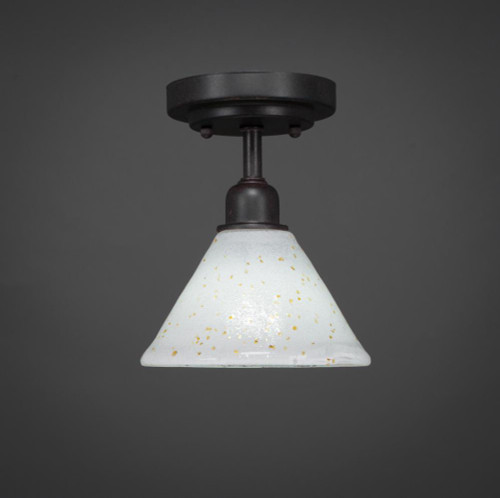 Vintage 1 Light Gold Semi-Flushmount Ceiling Light-280-DG-7145 by Toltec Lighting