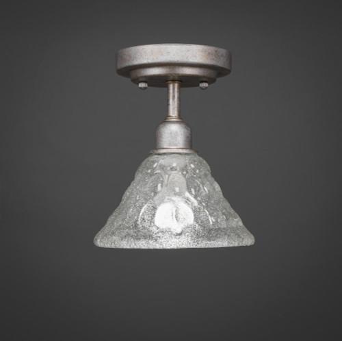 Vintage 1 Light White Semi-Flushmount Ceiling Light-280-AS-451 by Toltec Lighting