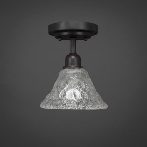 Vintage 1 Light White Semi-Flushmount Ceiling Light-280-DG-451 by Toltec Lighting
