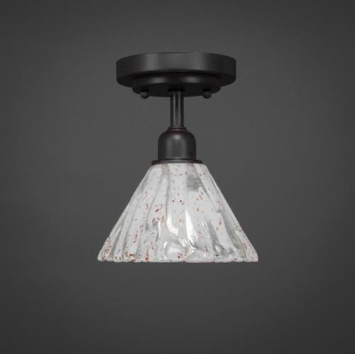 Vintage 1 Light White Semi-Flushmount Ceiling Light-280-DG-7195 by Toltec Lighting