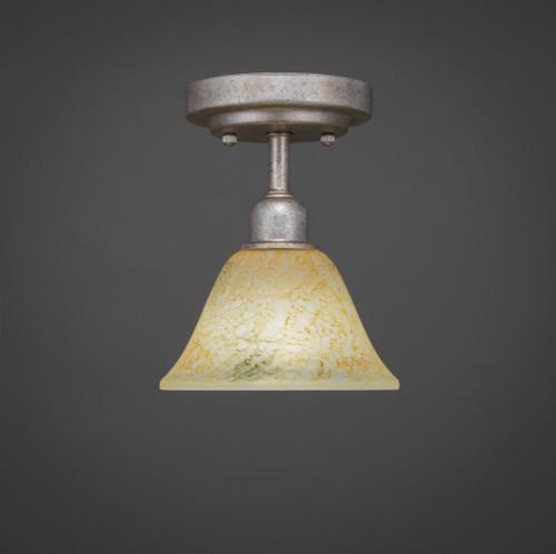 Vintage 1 Light Beige Semi-Flushmount Ceiling Light-280-AS-508 by Toltec Lighting