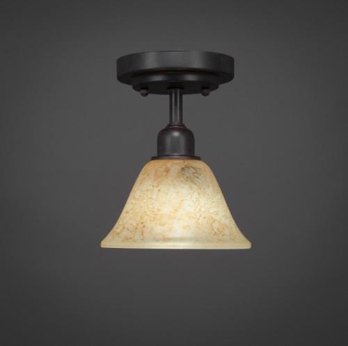 Vintage 1 Light Beige Semi-Flushmount Ceiling Light-280-DG-508 by Toltec Lighting