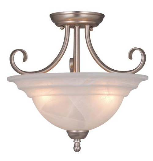 Babylon 3 Light Alabaster Semi-Flushmount Ceiling Light-CF65353BN by Vaxcel Lighting