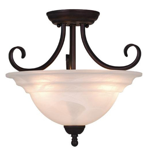 Babylon 3 Light Alabaster Semi-Flushmount Ceiling Light-CF65353OBB by Vaxcel Lighting