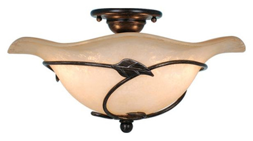 Vine 2 Light Amber Semi-Flushmount Ceiling Light-CF38815OL by Vaxcel Lighting