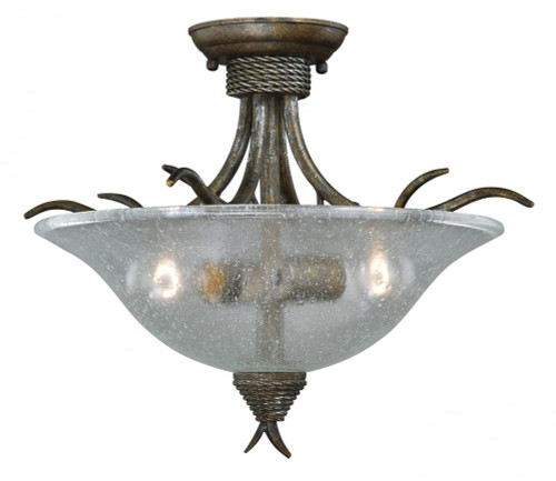 Monterey 2 Light Clear Semi-Flushmount Ceiling Light-C0044 by Vaxcel Lighting