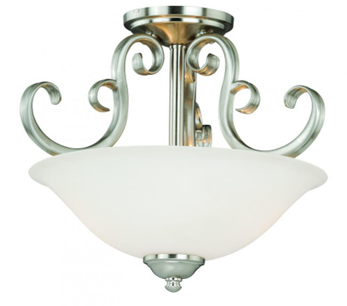 Belleville 2 Light Alabaster Semi-Flushmount Ceiling Light-C0102 by Vaxcel Lighting