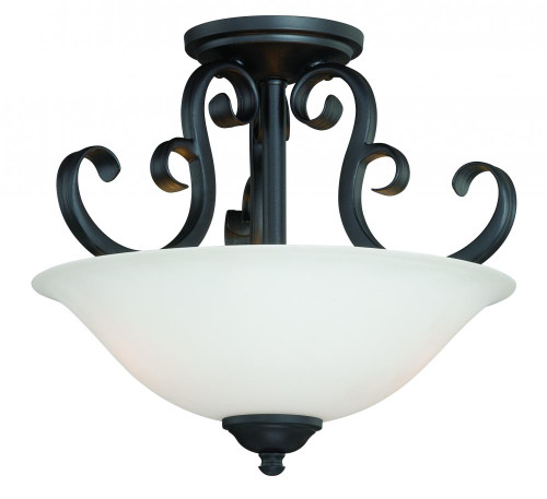 Belleville 2 Light Alabaster Semi-Flushmount Ceiling Light-C0103 by Vaxcel Lighting