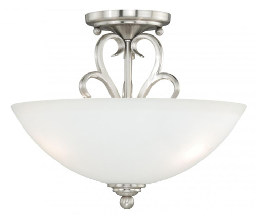 Hartford 2 Light Alabaster Semi-Flushmount Ceiling Light-C0096 by Vaxcel Lighting