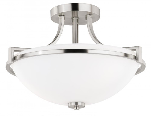 Metropolis 3 Light Alabaster Semi-Flushmount Ceiling Light-C0129 by Vaxcel Lighting