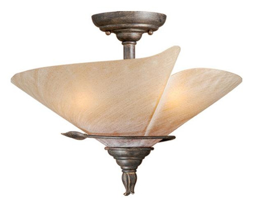Capri 3 Light Beige Semi-Flushmount Ceiling Light-CP-CFU150BW by Vaxcel Lighting