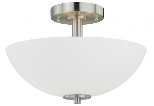 Glendale 2 Light Opal Semi-Flushmount Ceiling Light-C0072 by Vaxcel Lighting