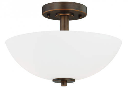 Glendale 2 Light Opal Semi-Flushmount Ceiling Light-C0073 by Vaxcel Lighting