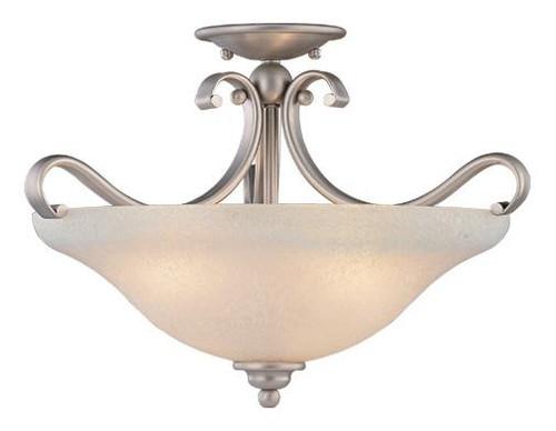 Monrovia 3 Light White Semi-Flushmount Ceiling Light-CF35417BN by Vaxcel Lighting