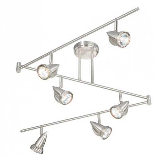 Garda 6 Light Swing Track Bar-SP34166SN by Vaxcel Lighting
