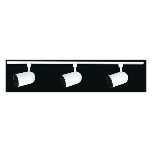 4 Foot Track With 3 Rd Cyl Heads White-F2916-30 by Sunset Lighting