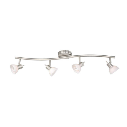 Como 4 Light S-Shape Track Bar Satin Nickel-SP53514SN by Vaxcel Lighting