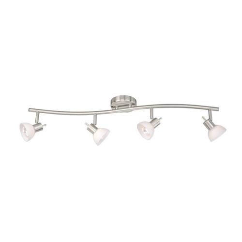 Como 4 Light S-Shape Track Bar Satin Nickel-SP53514SN by Vaxcel Lighting