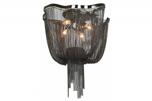 Ceiling Lights By Avenue Lighting MULLHOLAND DR. BLACK DRAPED CHAIN FLUSH MOUNT HF1403-BLK