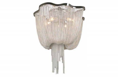 Ceiling Lights By Avenue Lighting MULLHOLAND DR. DRAPED CHROME CHAIN FLUSH MOUNT HF1403-CH