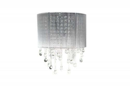Wall Lights By Avenue Lighting BEVERLY DRIVE COLLECTION SILVER SILK STRING AND CRYSTAL WAL SCONCE HF1511-SLV