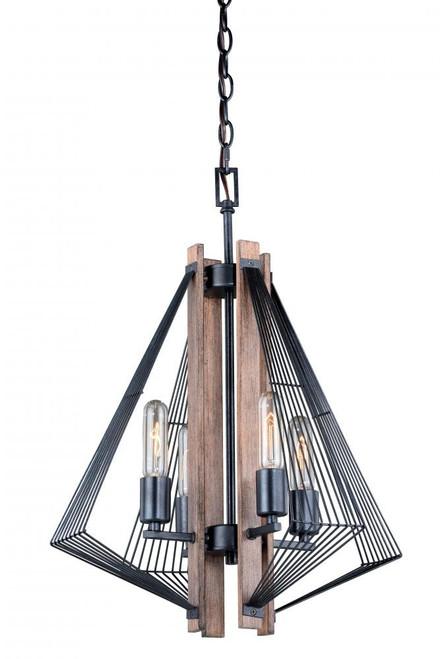 Dearborn 4 Light Black Mini Chandelier-H0181 by Vaxcel Lighting