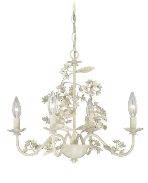Mini Chandelier 4 Light White Mini Chandelier-H0144 by Vaxcel Lighting