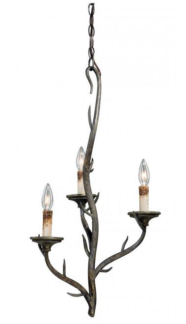 Monterey 3 Light Bronze Mini Chandelier-H0074 by Vaxcel Lighting