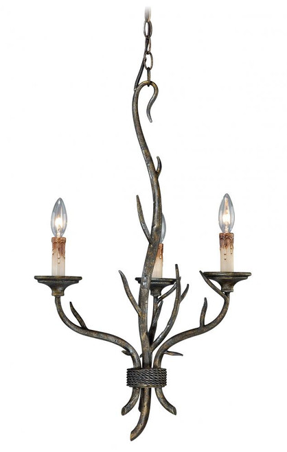 Monterey 3 Light Bronze Mini Chandelier-H0071 by Vaxcel Lighting
