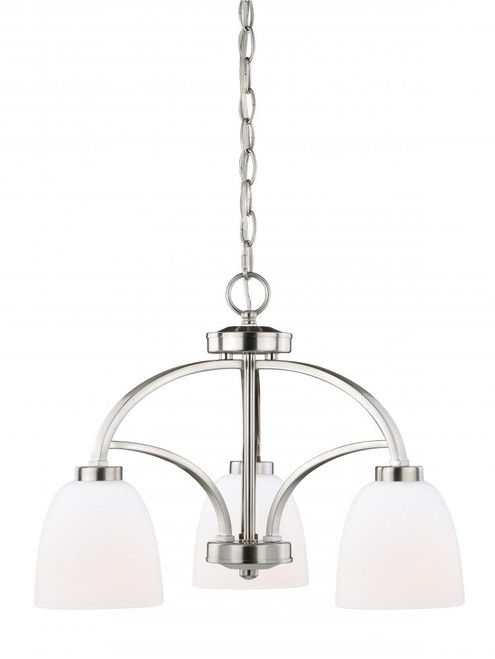 Mea 3 Light Alabaster Mini Chandelier-H0176 by Vaxcel Lighting