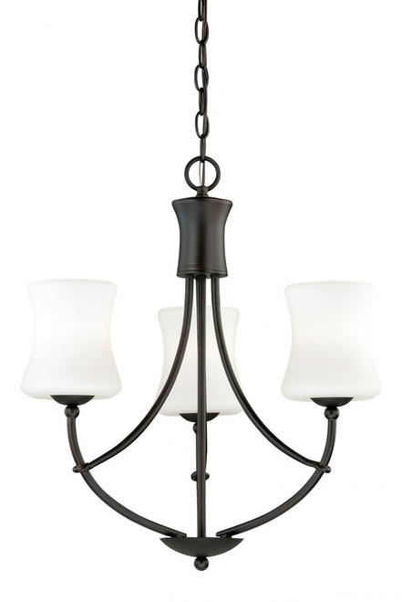 Poirot 3 Light Alabaster Mini Chandelier-H0104 by Vaxcel Lighting