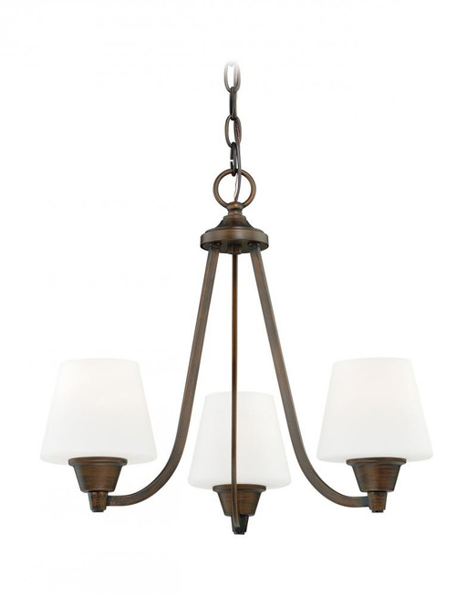 Calais 3 Light Opal Mini Chandelier-H0101 by Vaxcel Lighting