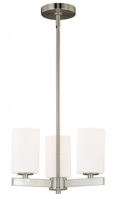 Glendale 3 Light Opal Mini Chandelier-H0121 by Vaxcel Lighting